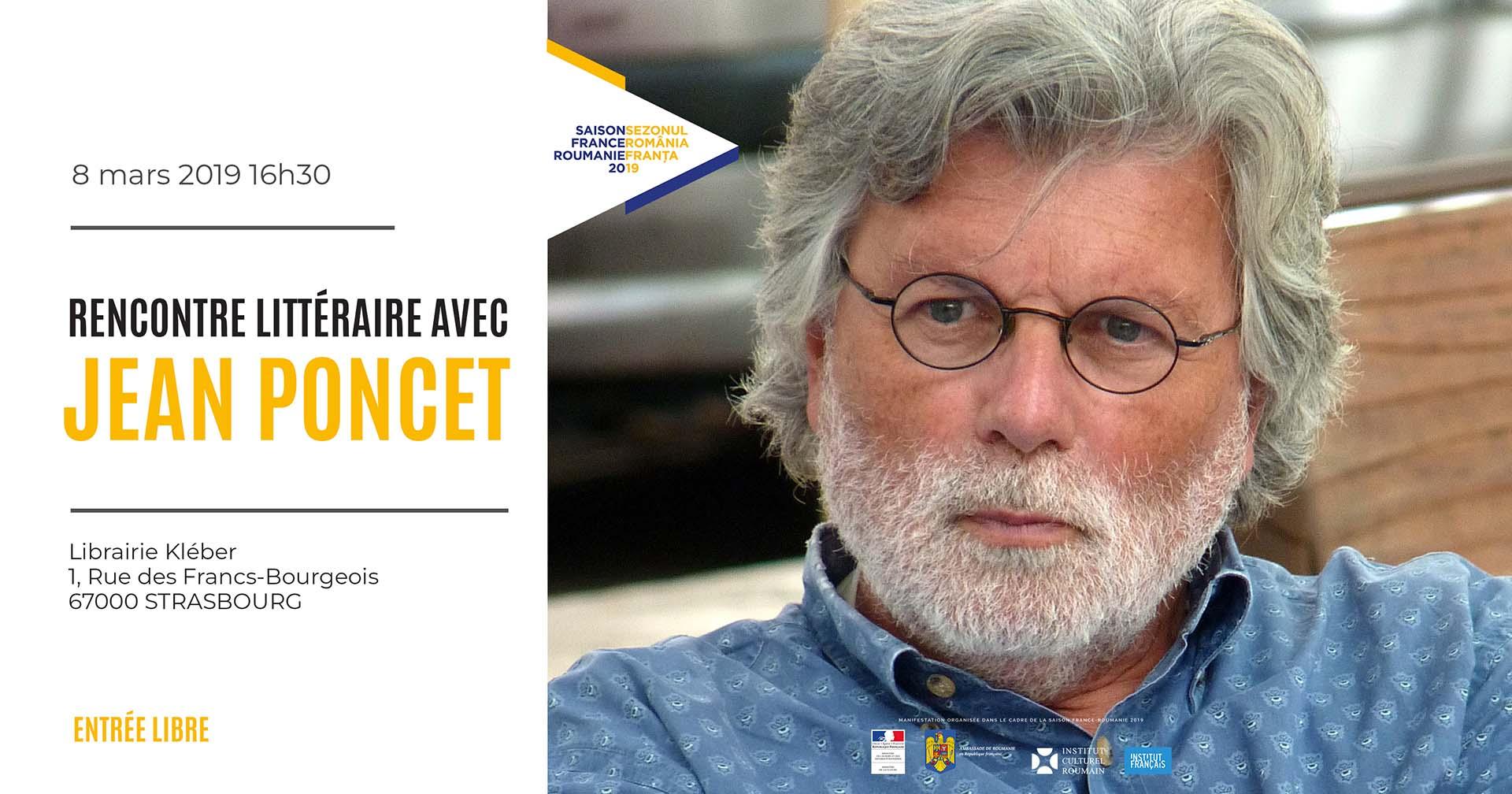 Rencontre littéraire avec Jean Poncet Strasbourg
